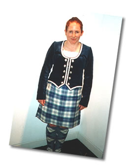 Amanda in the Highland Costume
