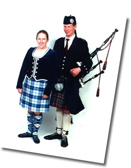 Neil and Amanda The Piper and Highland Dancer